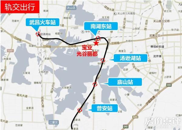 武咸城际铁路线