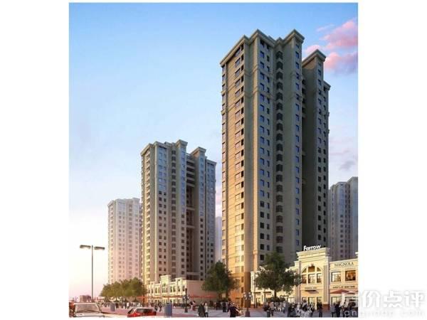 外立面未呈现,根据效果图及售楼员讲解,得知项目建筑为欧式风格.